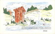 out001154 - Outhouse Outhouses Postcard Postcards