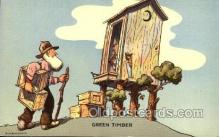 out001183 - Artist Don Bloobgoob Out House, Out Houses, Outhouse, Outhouses Postcard Postcards