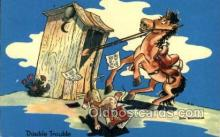 out001198 - Artist Don Bloobgoob Out House, Out Houses, Outhouse, Outhouses Postcard Postcards