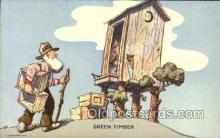 out001233 - Artist Don Bloobgoob Out House, Out Houses, Outhouse, Outhouses Postcard Postcards