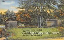 out001278 - Two Houses  Postcard Post Card