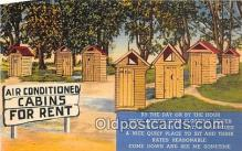 out001279 - Air Conditioned Cabins for Rent  Postcard Post Card