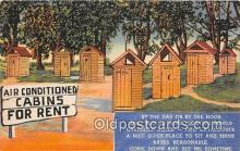 out001301 - Air Conditioned Cabins for Rent  Postcard Post Card