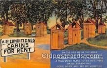out001304 - Air Conditioned Cabins for Rent  Postcard Post Card