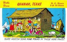 out001345 - Hellow From Quanah, Texas Postcard Post Card