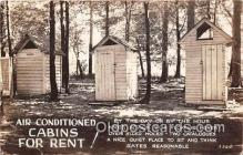 out001347 - Air Conditioned Cabins for Rent  Postcard Post Card