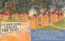 out001368 - Air Conditioned Cabins for Rent  Postcard Post Card