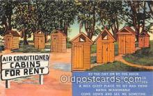 out001409 - Air Conditioned Cabins for Rent  Postcard Post Card