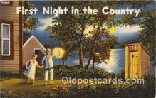 out001431 - First Night in the Country  Postcard Post Card