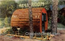 out001463 - Redwood Rest Room, Grundys Redwood Terrace Garberville, CA Postcard Post Card