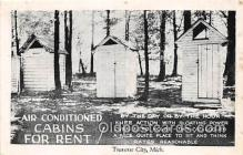 out001513 - Air Conditioned Cabins for Rent Traverse City, Mich Postcard Post Card
