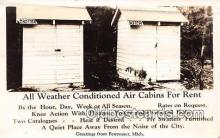 out001523 - All Weather Conditioned Air Cabins for Rent Pentwater, Mich Postcard Post Card