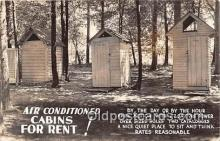 out001524 - Air Conditioned Cabins for Rent  Postcard Post Card