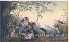 owl001020 - PK 233 Artist Molly Brett, The Medici Society, Owl Postcard Postcard