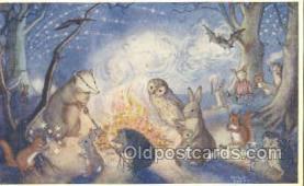 owl001021 - PK 283 Artist Molly Brett, The Medici Society, Owl Postcard Postcard