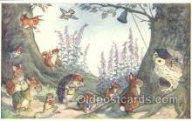 owl001023 - Pk 226 Artist Molly Brett, The Medici Society, Owl Postcard Postcard