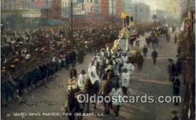 par001020 - Mardi Gras, New Orleans, LA USA Parade, Parades, Postcard Postcards