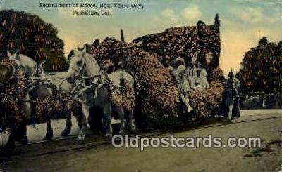 par001021 - Pasadena Rose Parade, CA USA Parade, Parades, Postcard Postcards