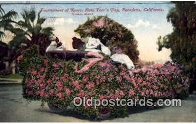 par001022 - Pasadena Rose Parade, CA USA Parade, Parades, Postcard Postcards