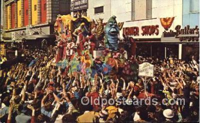 par001041 - Mardi Gras, New Orleans, La, Usa Parade, Parades, Postcard Postcards