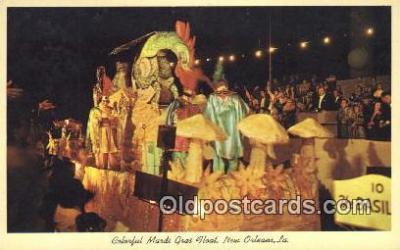 par001045 - Mardi Gras, New Orleans, La, Usa Parade, Parades, Postcard Postcards