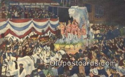 par001057 - Mardi Gras, New Orleans, La, Usa Parade, Parades, Postcard Postcards