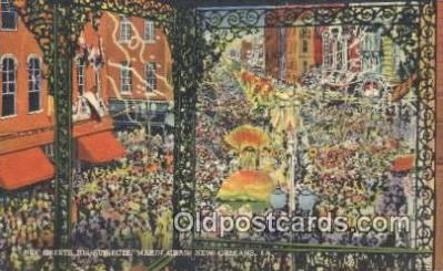 par001058 - Mardi Gras, New Orleans, La, Usa Parade, Parades, Postcard Postcards