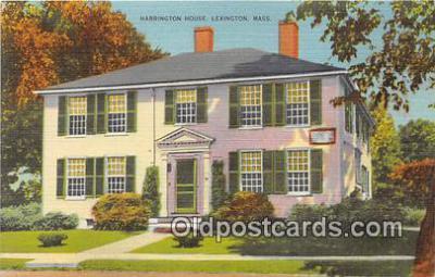 pat100018 - Harrington House Lexington, Mass Postcard Post Card
