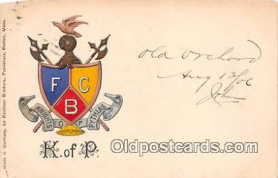 pat100031 - Knights of Pythias  Postcard Post Card