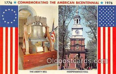 pat100038 - Liberty Bell Independence Hall, 1776-1976 Postcard Post Card