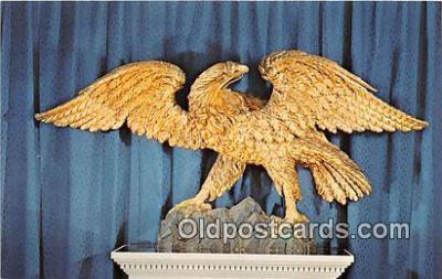 pat100041 - American Carved Pine, Gilded Eagle Bennington, Vermont Postcard Post Card