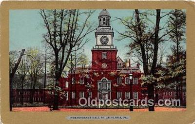 pat100063 - Independence Hall Philadelphia, PA Postcard Post Card