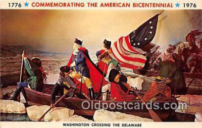 pat100068 - American Bicentennial 1776-1976 Washington Crossing the Delaware Postcard Post Card