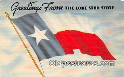 pat100074 - Greetings from the Lone Star State Texas Postcard Post Card