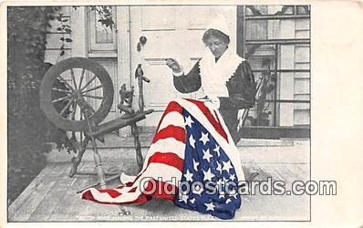 pat100075 - Betsy Ross, State Flag  Postcard Post Card