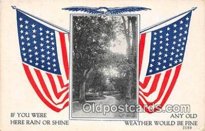 pat100080 - Rain or Shine  Postcard Post Card