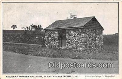pat100123 - American Powder Magazine Saratoga Battlefield 1777 Postcard Post Card