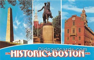 pat100278 - Historic Boston, 1776-1976  Postcard Post Card