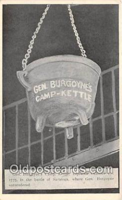 pat100332 - Gen Burgoyne's Camp Kettle  Postcard Post Card