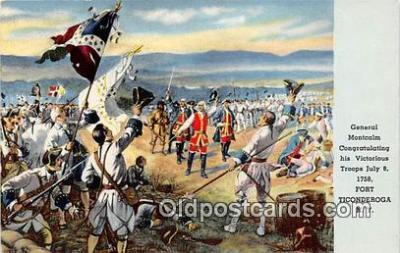 pat100380 - General Montcalm Fort Ticonderoga, NY Postcard Post Card
