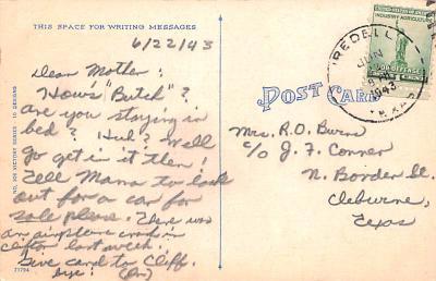 pat200135 - Patriotic Post Card Old Vintage Antique Postcard  back