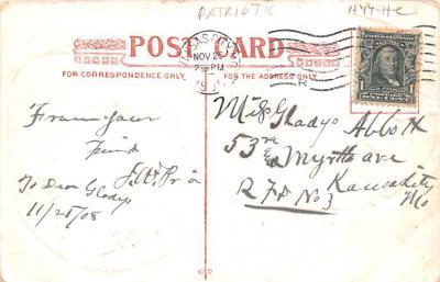 pat200293 - Patriotic Post Card Old Vintage Antique Postcard  back