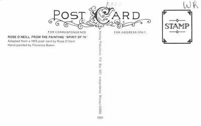 pat200299 - Patriotic Post Card Old Vintage Antique Postcard  back
