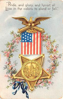 pat200323 - Patriotic Post Card Old Vintage Antique Postcard