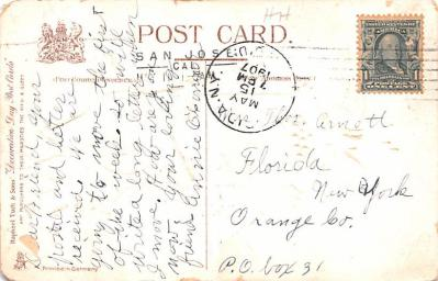 pat200323 - Patriotic Post Card Old Vintage Antique Postcard  back