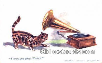 pgh001019 - Phonograph, record player, postcard, postcards