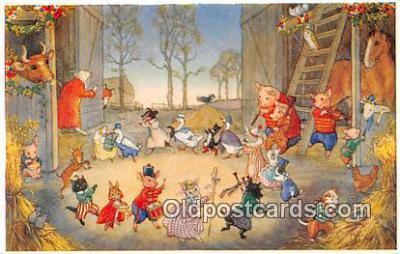 pig001052 - Artist Molly Brett Postcards Post Cards Old Vintage Antique