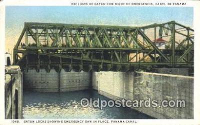 pnc001020 - Gatun Locks Panama Canal Postcard Postcards