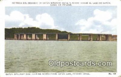 pnc001025 - Gatun Spillway Dam Panama Canal Postcard Postcards