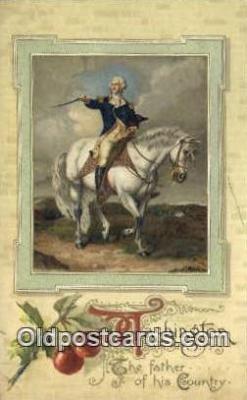 pol001163 - George Washington, 1st President USA, Political, Old Vintage Antique Postcard Post Card